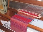 Students samples on the loom