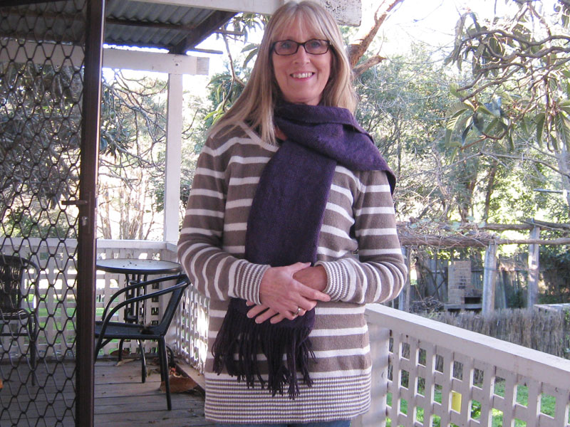 The finished scarf 2nd project