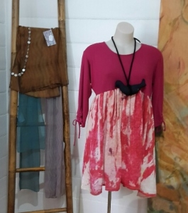 Fashionable upcycled clothing by Mandira