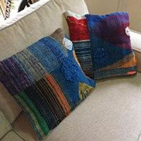 handwoven saori cushions