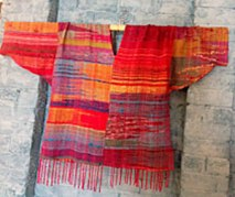 handwoven saori silk and cotton top