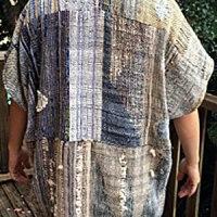 handwoven saori style jacket back
