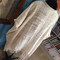 handwoven wool and mohair caftan