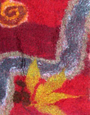 Sue J section of group felted rug aug 07