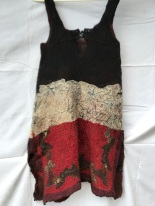 3 silks tunic nuno felted